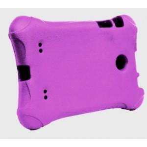 Ударостойкий детский силиконовый матовый гиппоаллергенный непрозрачный чехол для LG G Pad 7.0 Фиолетовый