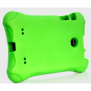 Ударостойкий детский силиконовый матовый гиппоаллергенный непрозрачный чехол для LG G Pad 7.0 Зеленый