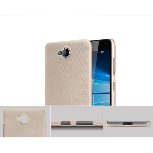 Пластиковый непрозрачный матовый нескользящий премиум чехол для Microsoft Lumia 650