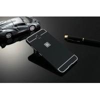 Двухкомпонентный чехол c металлическим бампером с поликарбонатной накладкой для Microsoft Lumia 650 Черный