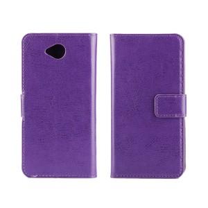 Глянцевый чехол портмоне подставка на пластиковой основе на магнитной защелке для Microsoft Lumia 650 Фиолетовый