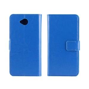 Глянцевый чехол портмоне подставка на пластиковой основе на магнитной защелке для Microsoft Lumia 650