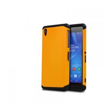 Противоударный двухкомпонентный силиконовый матовый непрозрачный чехол с поликарбонатными вставками экстрим защиты для Sony Xperia Z2