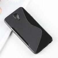 Силиконовый матовый полупрозрачный чехол с дизайнерской текстурой S для LG X view