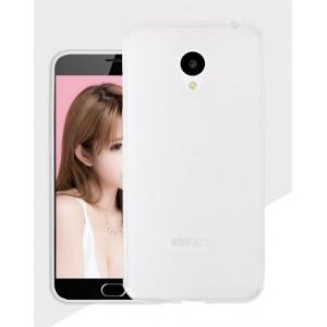 Силиконовый матовый полупрозрачный чехол для Meizu M3s Mini Белый