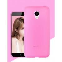 Силиконовый матовый полупрозрачный чехол для Meizu M3s Mini Розовый