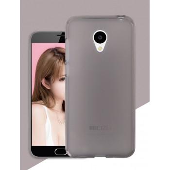 Силиконовый матовый полупрозрачный чехол для Meizu M3s Mini Серый