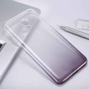 Силиконовый матовый полупрозрачный градиентный чехол для Meizu M3s Mini