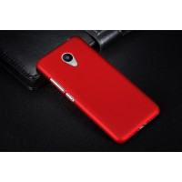 Пластиковый непрозрачный матовый чехол для Meizu M3s Mini Красный