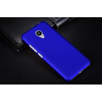 Пластиковый непрозрачный матовый чехол для Meizu M3s Mini Синий