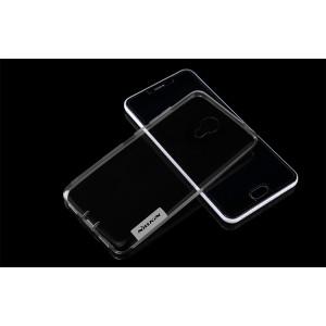 Силиконовый матовый полупрозрачный чехол с улучшенной защитой элементов корпуса (заглушки) для Meizu M3s Mini
