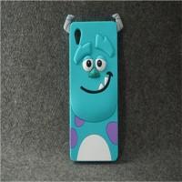 Силиконовый матовый непрозрачный дизайнерский фигурный чехол для Sony Xperia M4 Aqua  Голубой