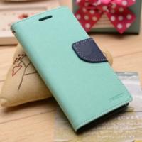 Текстурный чехол портмоне подставка на силиконовой основе на магнитной защелке для Sony Xperia M4 Aqua  Голубой