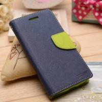 Текстурный чехол портмоне подставка на силиконовой основе на магнитной защелке для Sony Xperia M4 Aqua  Синий