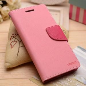 Текстурный чехол портмоне подставка на силиконовой основе на магнитной защелке для Sony Xperia M4 Aqua Розовый