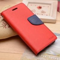 Текстурный чехол портмоне подставка на силиконовой основе на магнитной защелке для Sony Xperia M4 Aqua  Красный