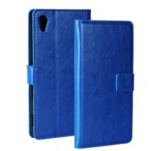Глянцевый чехол портмоне подставка на пластиковой основе на магнитной защелке для Sony Xperia M4 Aqua