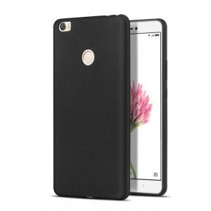 Силиконовый матовый непрозрачный чехол для Xiaomi Mi Max  Черный