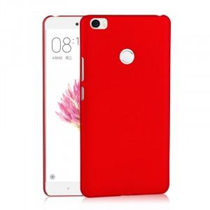 Пластиковый непрозрачный матовый чехол для Xiaomi Mi Max Красный