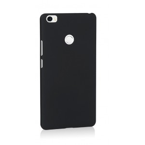 Пластиковый непрозрачный матовый чехол для Xiaomi Mi Max Черный