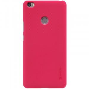 Пластиковый непрозрачный матовый нескользящий премиум чехол для Xiaomi Mi Max  Красный