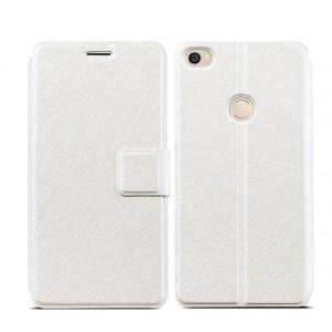 Чехол горизонтальная книжка текстура Линии на пластиковой основе на магнитной защелке для Xiaomi Mi Max  Белый