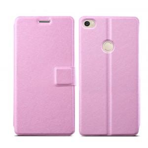 Чехол горизонтальная книжка текстура Линии на пластиковой основе на магнитной защелке для Xiaomi Mi Max  Розовый