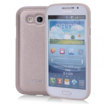 Силиконовый матовый непрозрачный чехол с текстурным покрытием Кожа для Samsung Galaxy Grand