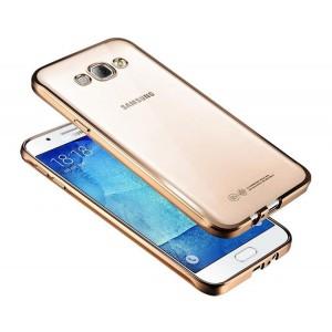 Силиконовый матовый полупрозрачный чехол с текстурным покрытием Металлик для Samsung Galaxy Grand