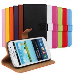 Чехол портмоне подставка на пластиковой основе на магнитной защелке для Samsung Galaxy Grand