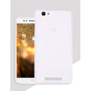 Силиконовый матовый полупрозрачный чехол для ZTE Blade A610 Белый