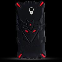 Силиконовый матовый непрозрачный дизайнерский фигурный чехол для ZTE Blade A510  Красный
