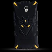 Силиконовый матовый непрозрачный дизайнерский фигурный чехол для ZTE Blade A510  Желтый