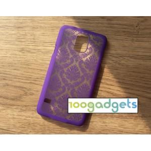 Пластиковый полупрозрачный матовый чехол для Samsung Galaxy S5 (Duos)