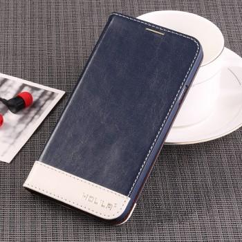 Вощеный чехол горизонтальная книжка подставка на пластиковой основе с отсеком для карт для Samsung Galaxy S5 (Duos)