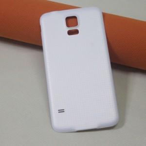 Пластиковый непрозрачный матовый встраиваемый чехол для Samsung Galaxy S5 (Duos) Белый