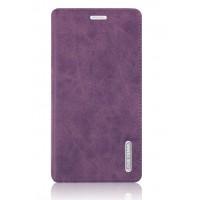 Винтажный чехол горизонтальная книжка подставка на пластиковой основе с отсеком для карт на присосках для Samsung Galaxy Note 4 Фиолетовый