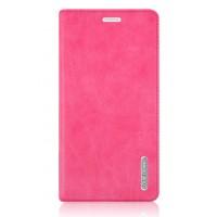 Винтажный чехол горизонтальная книжка подставка на пластиковой основе с отсеком для карт на присосках для Samsung Galaxy Note 4 Розовый