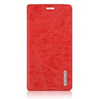 Винтажный чехол горизонтальная книжка подставка на пластиковой основе с отсеком для карт на присосках для Samsung Galaxy Note 4 Красный