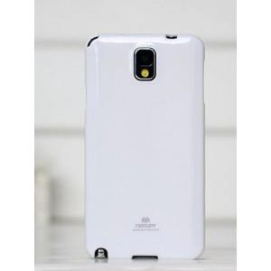 Силиконовый глянцевый непрозрачный чехол для Samsung Galaxy Note 4 Белый