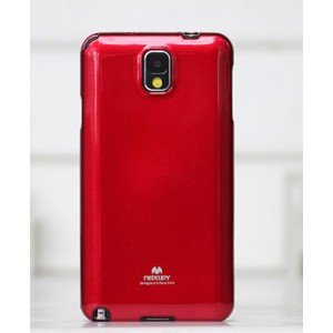 Силиконовый глянцевый непрозрачный чехол для Samsung Galaxy Note 4 Красный