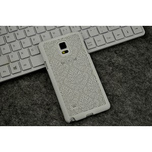 Пластиковый полупрозрачный матовый чехол для Samsung Galaxy Note 4