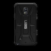 Противоударный двухкомпонентный силиконовый матовый непрозрачный чехол с поликарбонатными вставками экстрим защиты для Samsung Galaxy Note 4 Черный