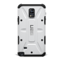 Противоударный двухкомпонентный силиконовый матовый непрозрачный чехол с поликарбонатными вставками экстрим защиты для Samsung Galaxy Note 4