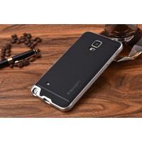 Двухкомпонентный силиконовый матовый непрозрачный чехол с поликарбонатным бампером для Samsung Galaxy Note 4 Белый