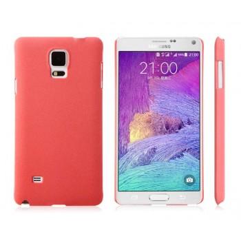 Пластиковый непрозрачный матовый чехол с повышенной шероховатостью для Samsung Galaxy Note 4