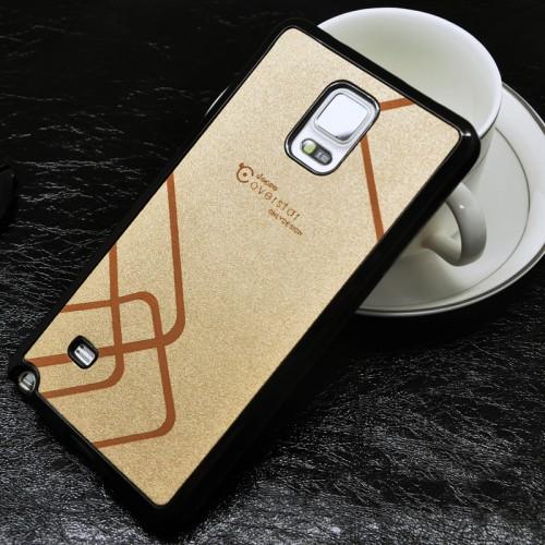 Силиконовый матовый непрозрачный чехол с текстурным покрытием Узоры для Samsung Galaxy Note 4