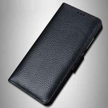 Кожаный чехол портмоне (премиум нат. кожа) с крепежной застежкой для LeEco Le Max 2