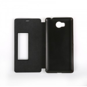 Чехол горизонтальная книжка на пластиковой основе с окном вызова для Elephone P9000 Lite