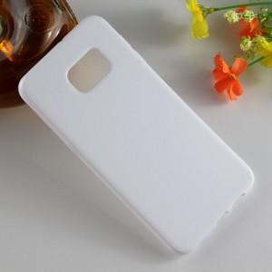 Силиконовый матовый полупрозрачный чехол для Samsung Galaxy S6 Edge Plus Белый